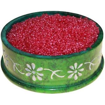 Rose Musk oljebrenner Simmering granulater ekstra store Jar