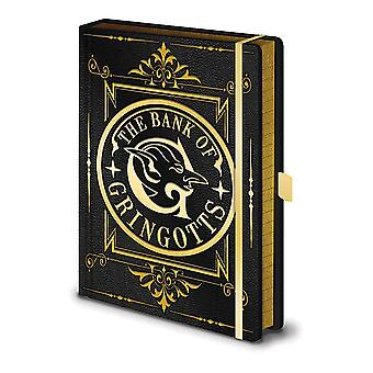 Harry Potter Premium Notebook The Bank of Gringotts Hardcover, Look & Feel Like Leather, Bound, 240 Pages Lined.