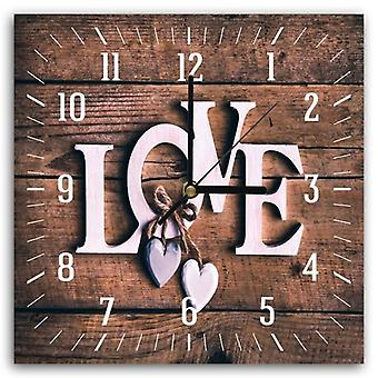Decorative Clock With Picture, Love 6
