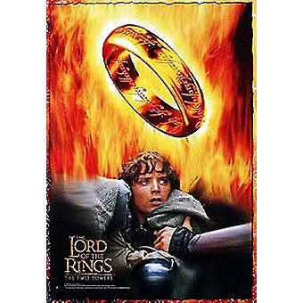 The Lord Of The Rings: The Two Towers (Frodo & Fire Reprint) Reprint Poster