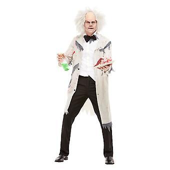 Mens Mad wetenschapper fancy dress kostuum