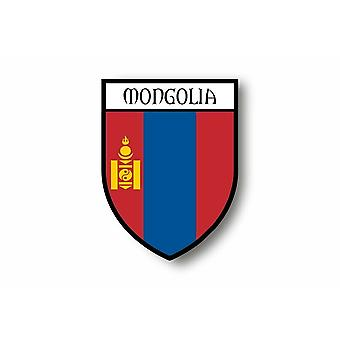 Sticker Sticker Motorcycle Car Blason City Mongolian Flag