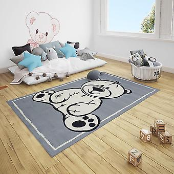 Short flor children's rug Teddy Bear