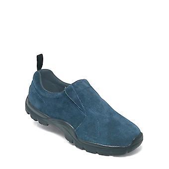 Pegasus Mens Shoes Wide Fit Suede Slip On