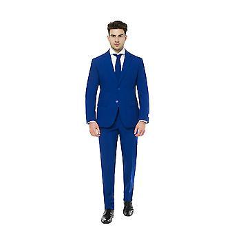 Costume bleu avec Flamingo Lining 2 en 1 Costume Slimline Men's 3-Piece Premium