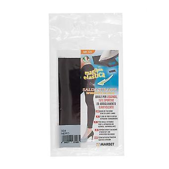Marbet MB121.004 | Tissu Jersey extensible | Fer-sur | 20 x 15cm | Noir