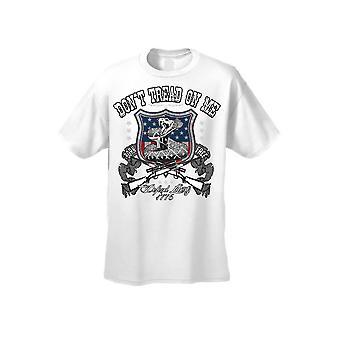 Men's T Shirt USA Flag Don't Tread on me Defend Liberty