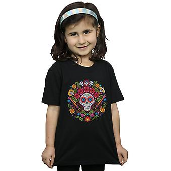 Disney Girls Coco Embroidered Skull Print T-Shirt