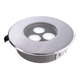 Lampa podłogowa LED płaska II 6000K x 116mm srebrny IP67