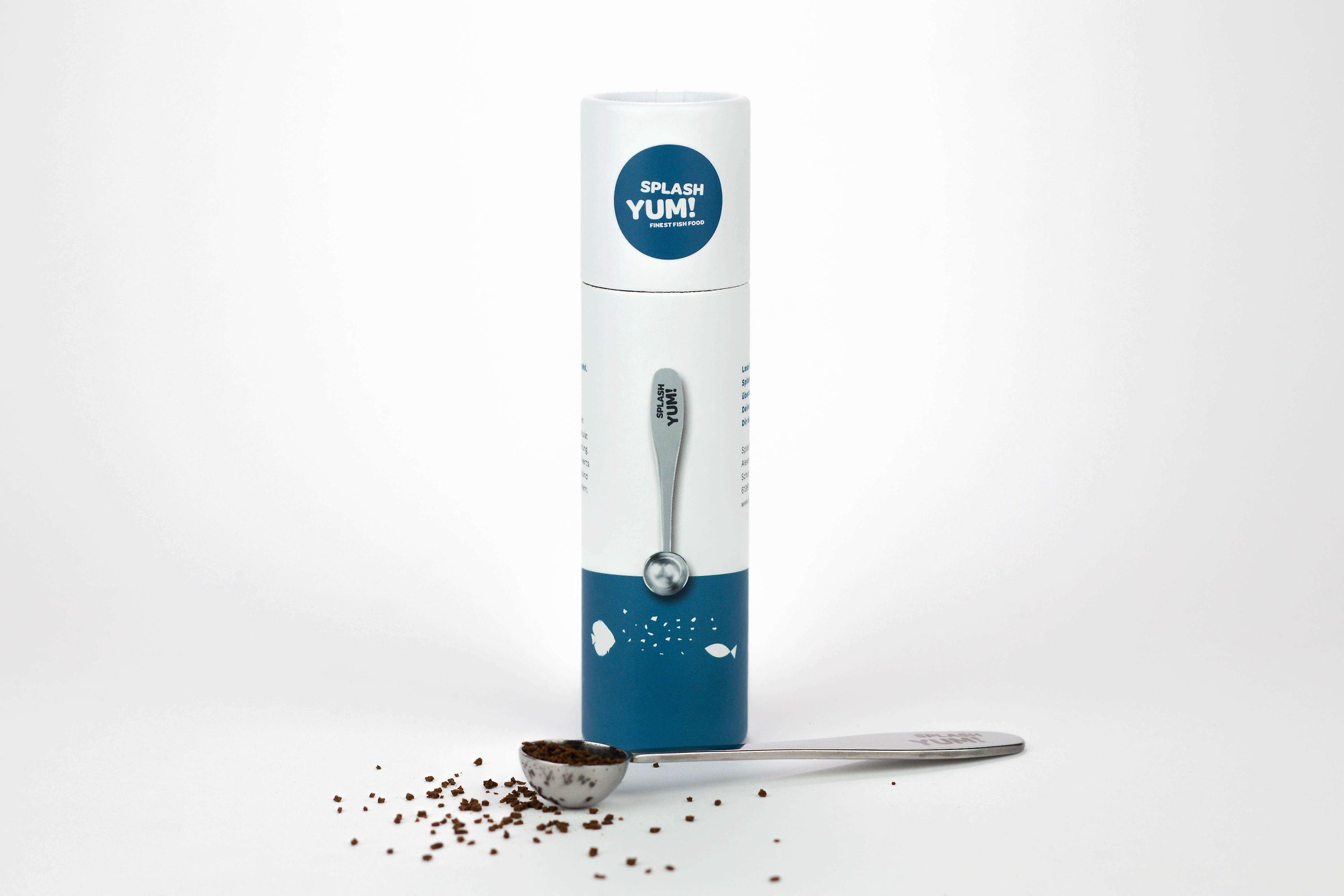 SplashYum! Stainless steel dosing helper measuring spoon for ornamental fish food, never more overfeeding !