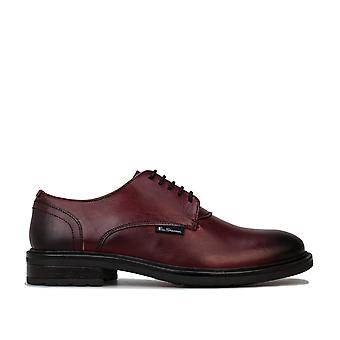 Mens Ben Sherman Pat Casual Shoe In Red- Lace Fastening- Cushioned Insole-
