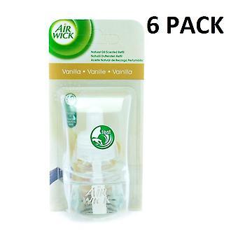 6 x Air Wick prise électrique à Air Freshener huile recharges - vanille