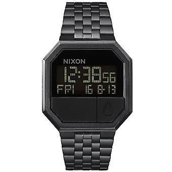 Nixon Assista A158-001-00-RE-RUN pulseira de aço preto Bo Tier aço preto Carr homens/mulheres