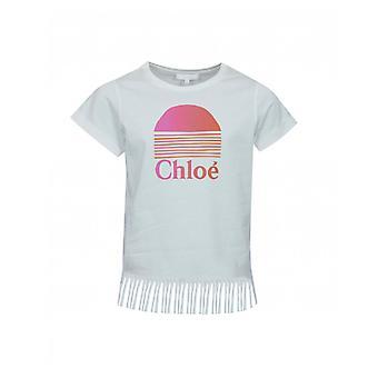Chloe Copii Fringed Sunset T-shirt