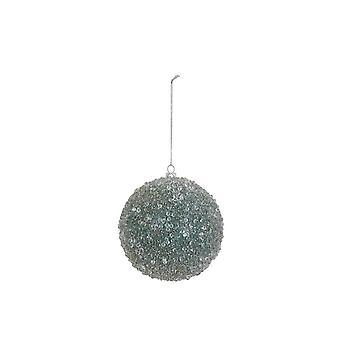 Licht & leben Weihnachten Bauble Runde 8cm Kugel Glas Licht blau Mond