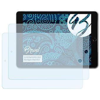 Bruni 2x Screen Protector compatibel met Apple iPad 10.2 Beschermfolie