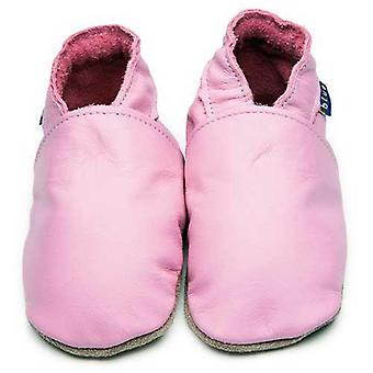 Baby shoes plain pink - inch blue