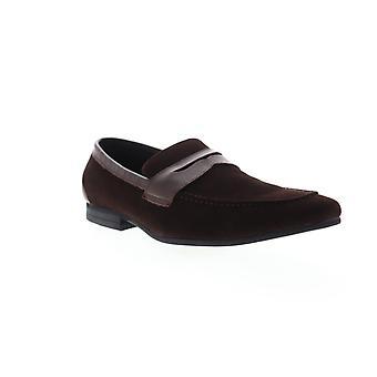 Zanzara Siena  Mens Brown Suede Dress Slip On Loafers Shoes