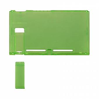 Housing shell for nintendo switch console back plate with kickstand - transparent green | zedlabz
