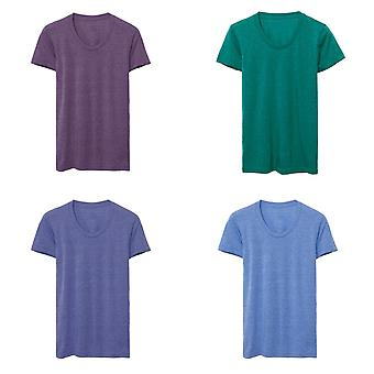 American Apparel donna/Womens Tri-Blend Track t-shirt