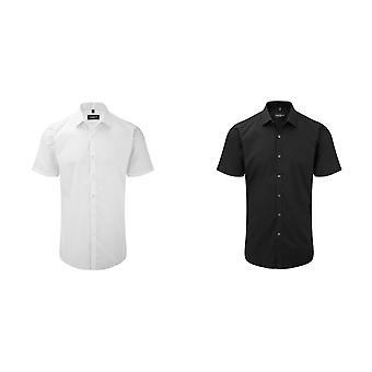 Camisa de trabalho Russell Mens Short manga umidade estiramento de gestão