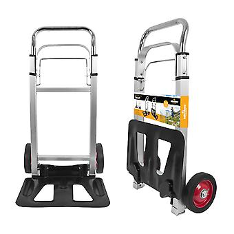 Milestone Deluxe Aluminium Faltbarer Camping Trolley Silber