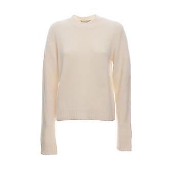 Bottega Veneta 591946va7s08329 Women's White Wool Sweater