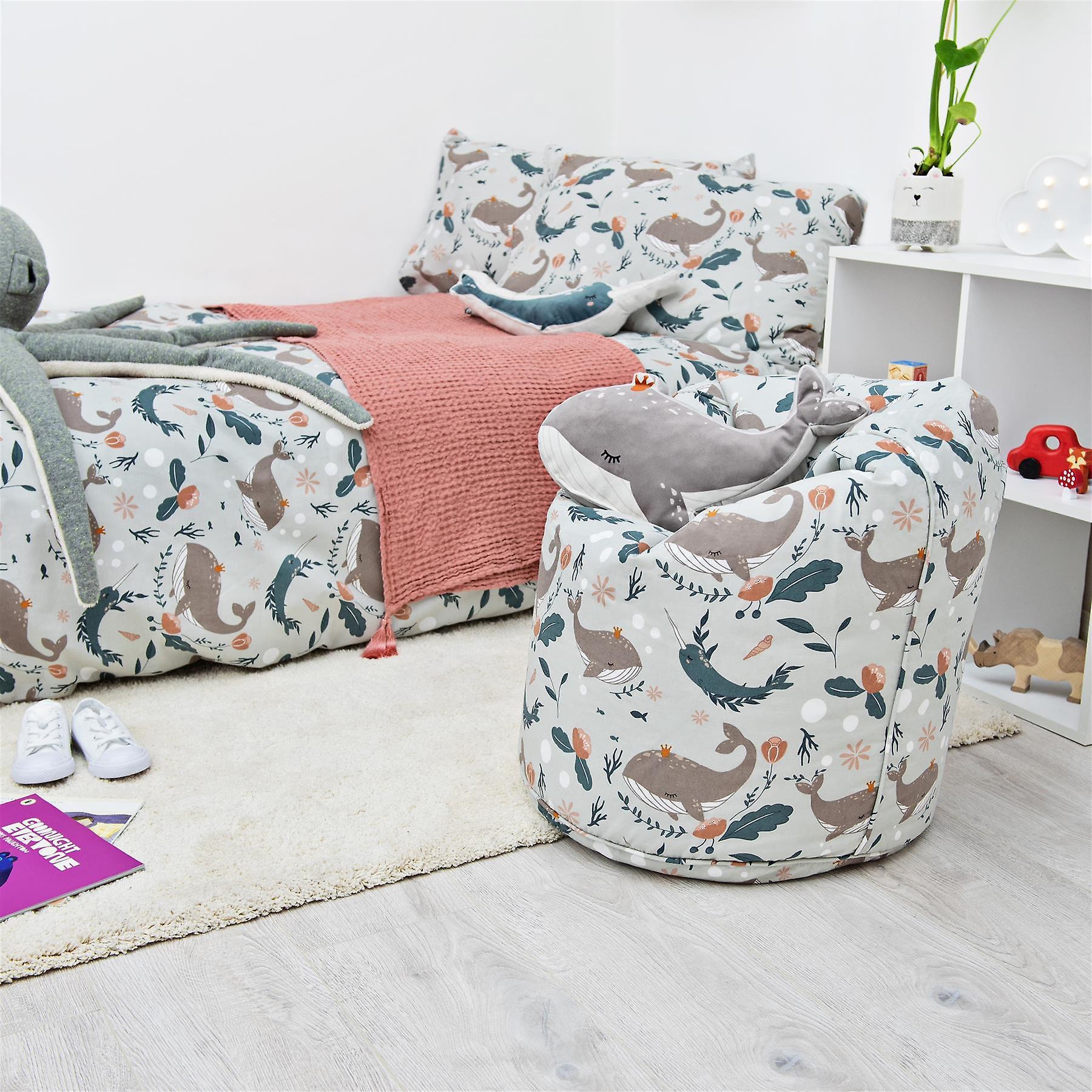 Ready Steady Bed Undersea Kids Toddler Children Bean Bag Chair (fr) Meubles pour tout-petits confortables (fr) Salle de jeux Soft Child Safe Seat (fr) Ergonomique