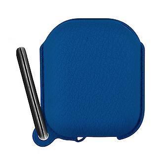 Étui Boitier Airpods 1 et 2 Protection Silicone Mousqueton intégré - bleu nuit