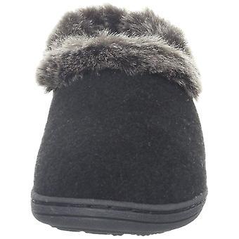 Acorn Womens Chinchilla Collar Faux Fur Closed Toe Slip On Slippers
