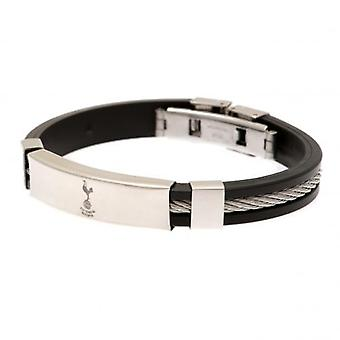Tottenham Hotspur Silver Inlay Silicone Bracelet