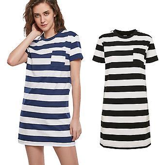 Urban Classics Ladies - Stripe Boxy Tea Dress