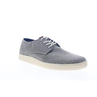 Ben Sherman Preston  Mens Gray Canvas Lace Up Low Top Sneakers Shoes