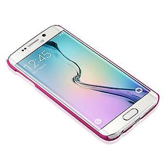 Samsung Galaxy S6 EDGE kovakotelo vaaleanpunainen Cadorabo - kukka Paisley Henna Design suojakotelo - Puhelin tapauksessa puskurin takakotelon kansi