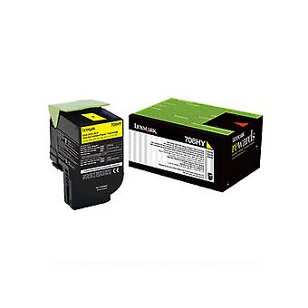 Lexmark 708Hye Yellow High Yield Corporate Toner Cartridge 3K