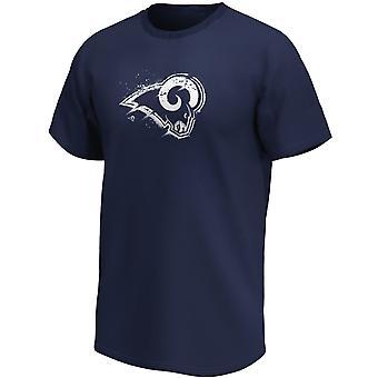 Los Angeles Rams NFL Fan T-Shirt Splatter Logo navy