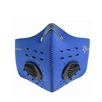 Ejercicio de enmascaramiento que limita la ingesta de oxígeno azul