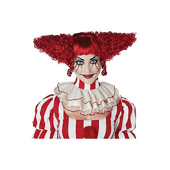 Womens Creepy Clown Wig Circus Carnival Halloween Fancy Dress Costume Accessory