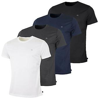 Calvin Klein Mens 2021 Harlem Quick Dry Crew Neck 4 Pack T-Shirt