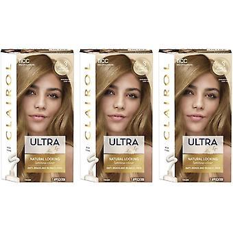 3 x Clairol Nice -apos;n Easy Ultra Lift Permanent Hair Colour - 11CC Cool Blonde