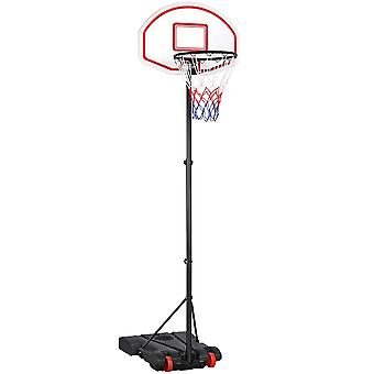 Ajustable Portable Basketball Stand Backboard Hoop Net w / Wheels Kids Fun