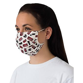 Mio BOB3 London Transport White Cotton Face Mask with Removable Nose Wire