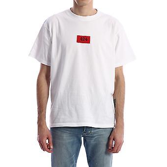 424 0044wht Men's White Cotton T-shirt