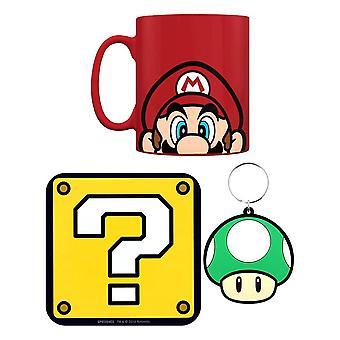 Super Mario Mario Hrnek, Coaster & Klíčenka dárková sada