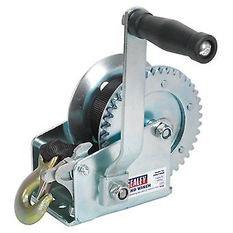 Sealey Gww1200M Geared Hand Winch 540Kg Capacity With Webbing Strap