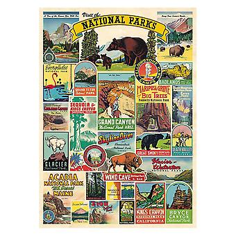 Cavallini National Parks Wrapping Paper Poster