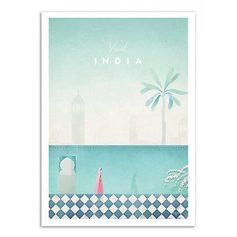 Art-Poster - Bezoek India - Henry Rivers
