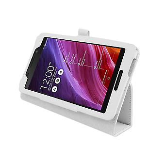 "Magnetic PU Leather Case Cover for Asus FonePad FE375CG 7""[White]"