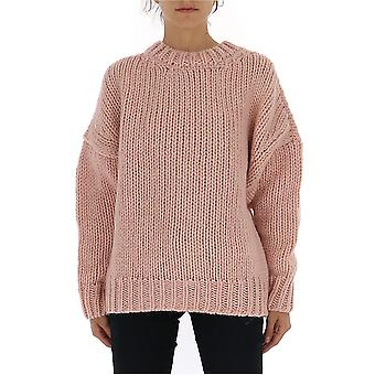 Dries Van Noten 112558719300 Dames's Roze Wollen Trui