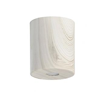Ceiling Light Beige Techno 1 Bulb 12 Cm